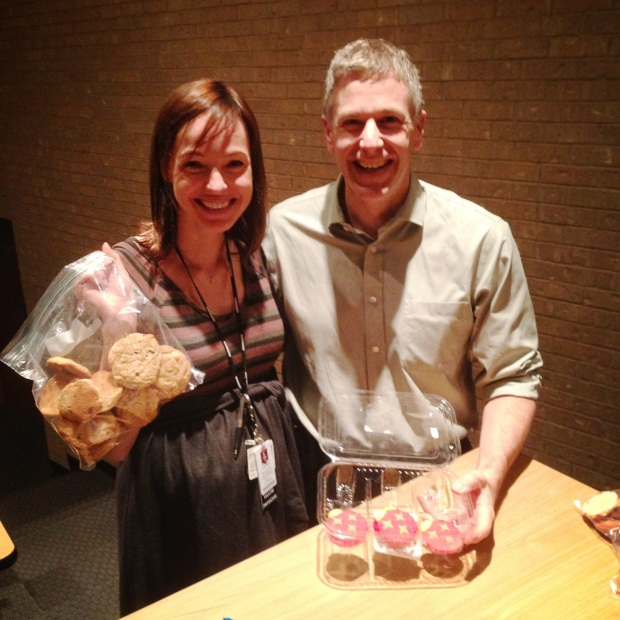 Dr. Leger and Dr. Amatruda - our cookie swapping pediatric oncologists!